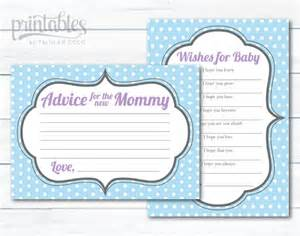 baby shower advice card set printable well wishes for baby boy