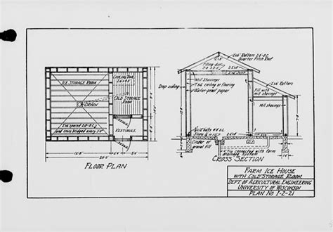 ice house design the state index of plans october 1924 farm ice house with cold storage room plan no i 2