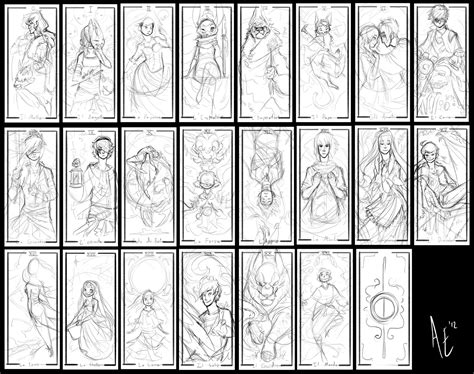 card templates site deviantart turtle tarot sketches by turtle arts on deviantart