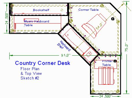 Free Corner Desk Plans Free Corner Computer Desk Woodworking Plans Woodplans