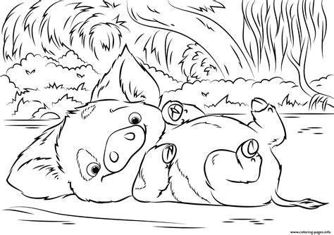 disney moana coloring pages pua pet pig from moana disney coloring pages printable