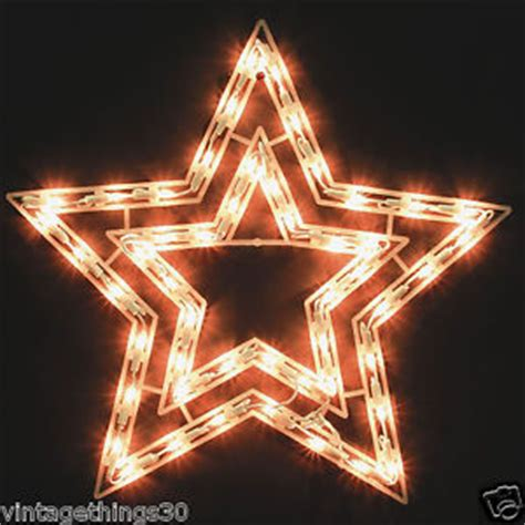 18 inch lighted 2 sided christmas star holiday indoor