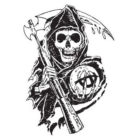 sons of anarchy logo coloring pages