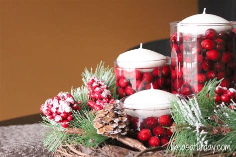 simple design table decorations for christmas office party