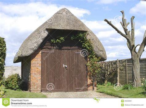 thatched garage near bognor regis uk stock image image