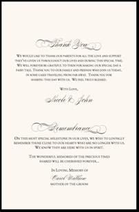 in memory of wedding program in remembrance wedding program wedding program thank you wording wedding