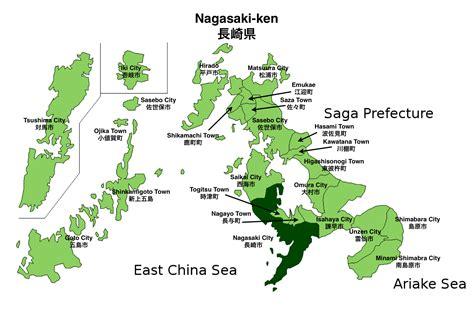 nagasaki map nagasaki prefecture wikijet