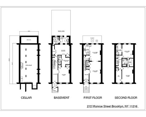 nyc floor plans nyc brownstone floor plans new york city brownstone