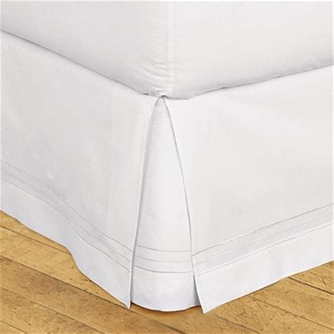 Bedskirt For Bed With Footboard by Hotel Stripe Tailored Bedskirt 1005 Cotton Split Corners To Accomodate Footboards
