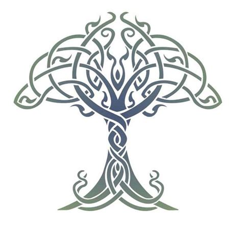 celtic tree of life tattoo design celtic tree of stencil designs from stencil kingdom