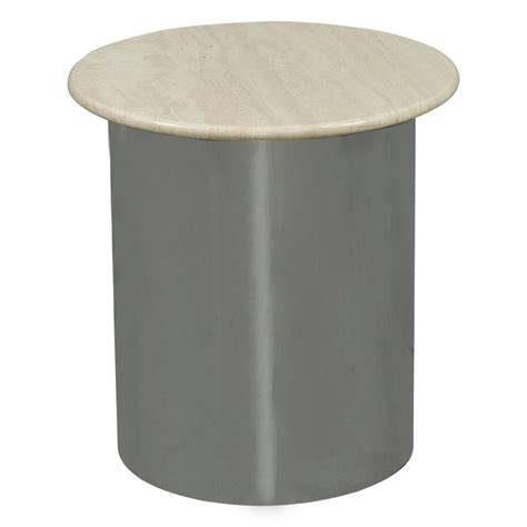 marble end table used chrome base end table marble national office