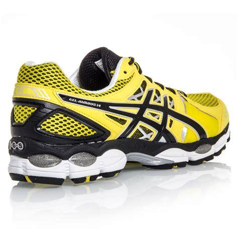 asics gel nimbus 14 running shoe asics gel nimbus 14 mens running shoes lemon black