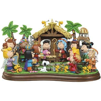 the peanuts nativity the danbury mint collectible figurine