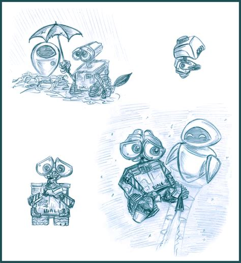 Wall E Sketches by Wall E Sketches By Lilostitchfan On Deviantart