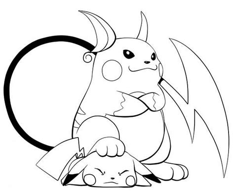 what color is pikachu raichu and pikachu coloring pages coloring pages