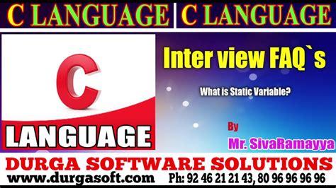 online tutorial of c language c language tutorial onlinetraining what is static