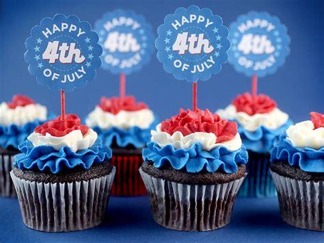 patriotic ruffled cupcakes happy 4th of july