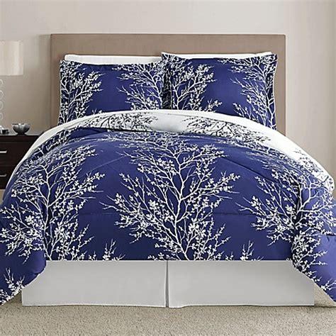 navy and white comforter sets queen buy leaf 8 piece reversible queen comforter set in navy