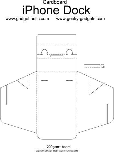 Origami Iphone Stand - folding cardboard iphone dock you could use it on any