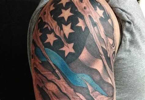 3d tattoo virginia right shoulder 3d flag tattoo veteran ink