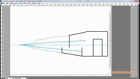 tutorial gambar perspektif belajar mengenal teknik perspektif desain exterior dan