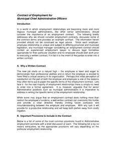 Administrative Officer Description by Chief Administrative Officer Description