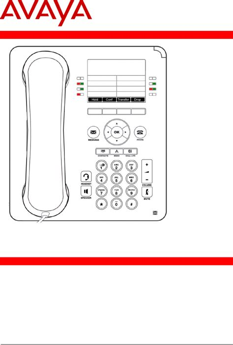 avaya phone template avaya telephone 9508 user guide manualsonline