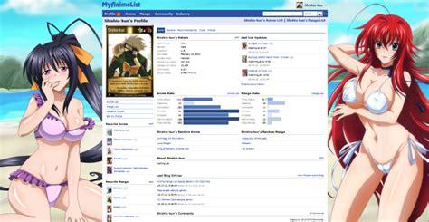theme anime list stylish custom ecchi background theme for forum and