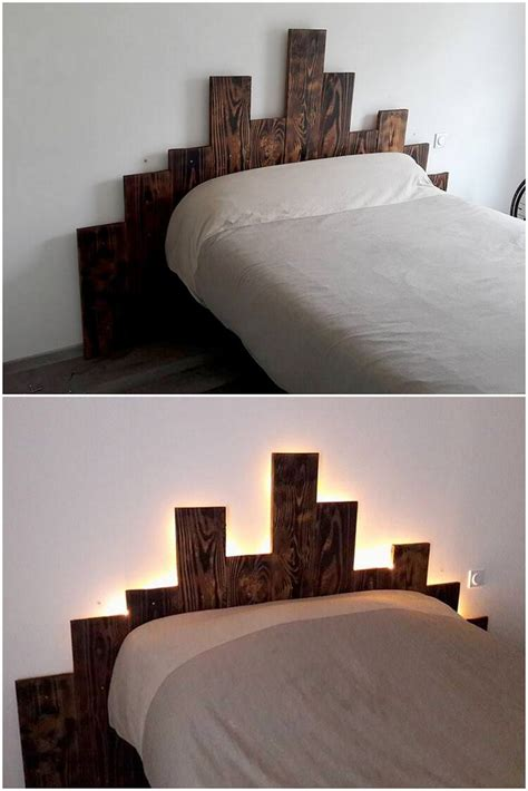 colorful headboard inspired diy ideas for wood pallet reusing pallet wood