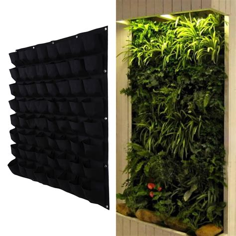 Hanging Vertical Garden Planters 64 Pocket Hanging Vertical Garden Planter Indoor Outdoor