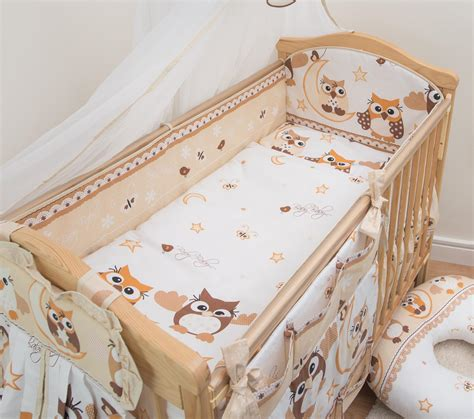 Cot Bed Bumper Sets Uk All Cot Cot Bed Bumper 4 Sided Pads With Pattern Or Plain Ebay