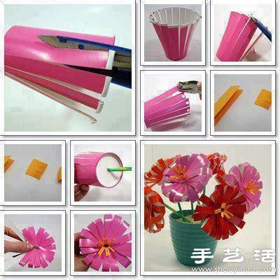 Hiasan Eiffel Acrylic 一次性纸杯 塑料杯手工制作漂亮花朵 花束 手艺活网