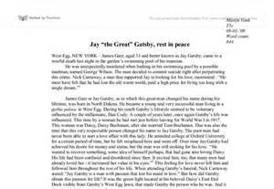 Great Gatsby Analysis Essay by Essays On Gatsby