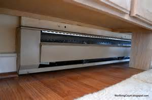 work around baseboard heating for the home