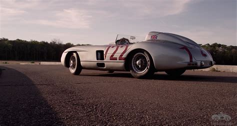 sir stirling moss and this mercedes 300 slr remain
