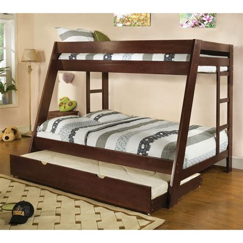 bunk bed with ladder arizona walnut bunk bed with ladder on both sides cm