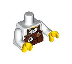 Lego Minifigures The Lego Larry The Barista lego white larry the barista minifig torso 88585 brick owl lego marketplace