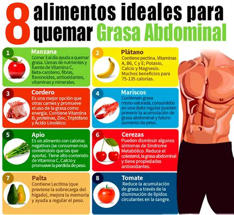 alimentos para eliminar grasa del abdomen perder grasa abdominal dieta workout pinterest