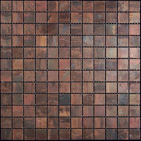Copper Kitchen Backsplash Copper Mosaic Tile Nova Futura 1 X 1 Patina Copper