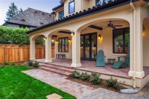 classic mediterranean veranda backyard design ideas home exteriors   house  porch
