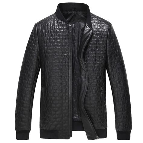 Mens Leather Quilted Bomber Jacket by Cwmalls 174 Mens Quilted Leather Bomber Jacket Cw806008