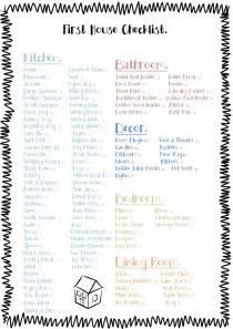 first home essentials checklist free printable check list for the essentials to buy for a