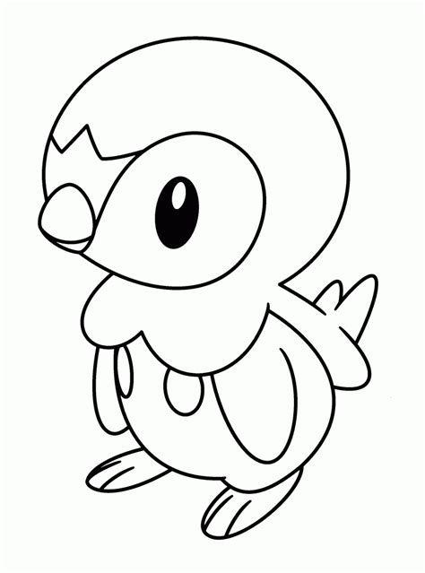 pikachu and piplup coloring pages