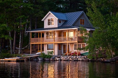 Homes Lake by Lake House Decor Exterior Rustic With Dock Cabin
