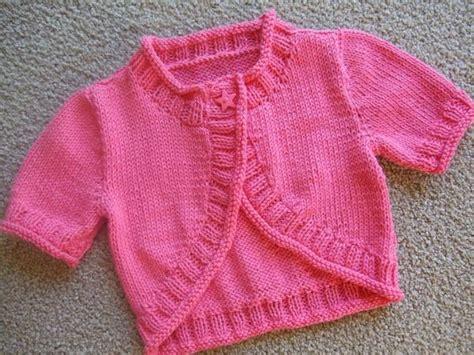 baby shrug knitting pattern free bolero knitting for baby
