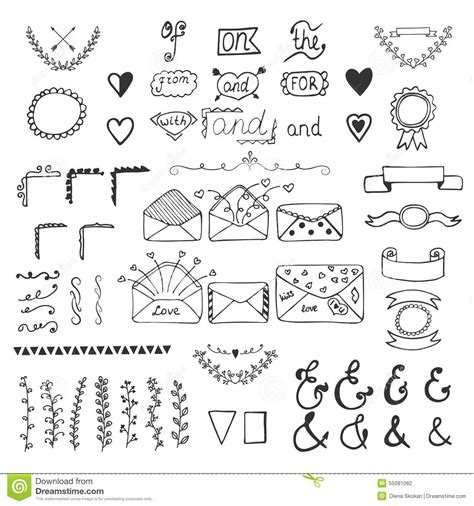 hand draw design elements vector handsketched vector design elements hand drawn ampersands
