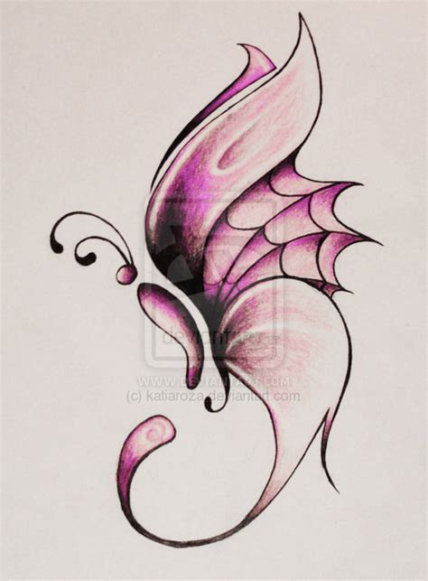 pink colored butterfly tattoo design tattooshunt com
