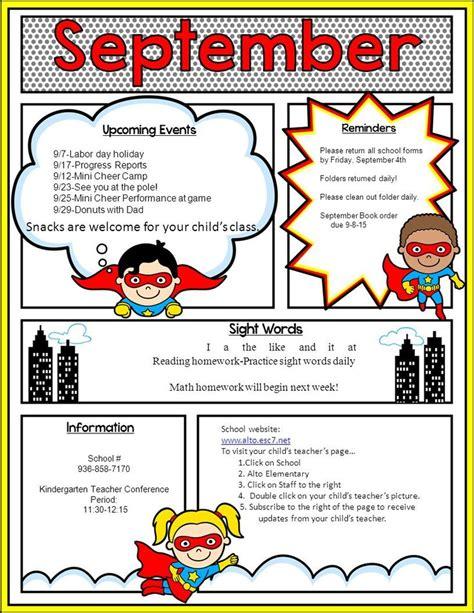 Best 25 School Newsletter Template Ideas On Pinterest Weekly Newsletter Template Parent School Newsletter Templates
