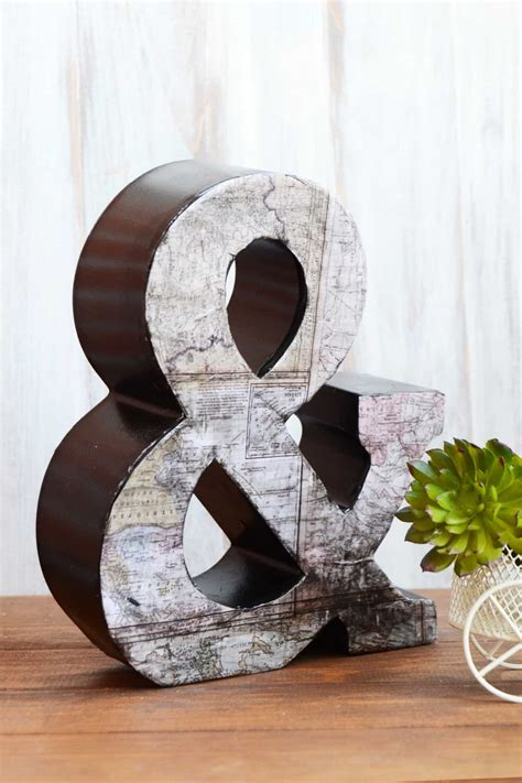 How To Make Decoupage Letters - vintage map decoupage letter mod podge rocks
