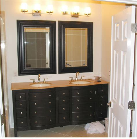 Bathroom Double Vanity Ideas brilliant bathroom vanity mirrors decoration black wall